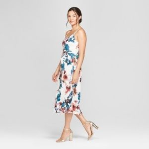 A New Day Floral Midi Pleated Dress